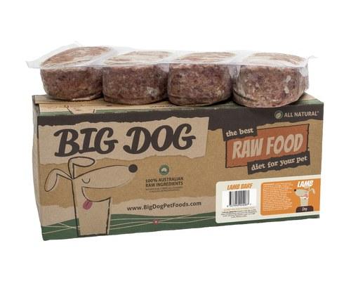 Big dog barf raw food for dog